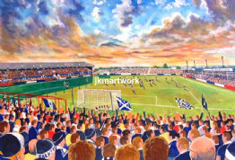 Hand Painted original of brockville on matchday